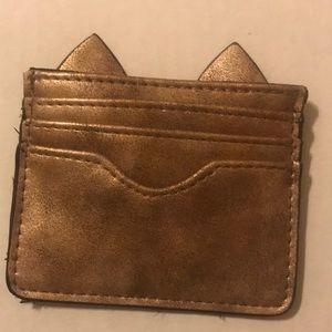 Cat ears card case